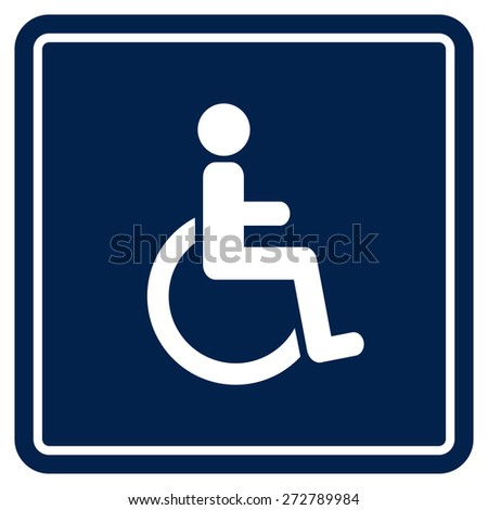 Disabled Handicap Icon - stock vector