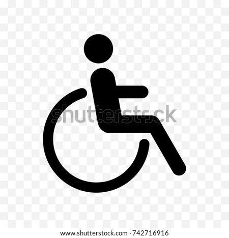 Disabled Icon Handicapped Symbol Isolated On Stock Photo Photo