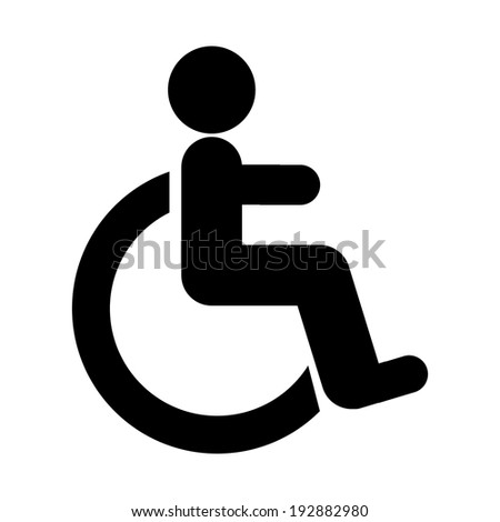 Disabled icon sign on white background. - stock vector