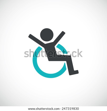 Disabled icon.vector illustration - stock vector