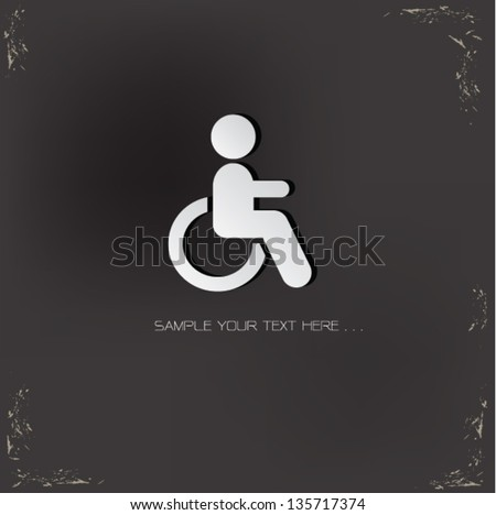 Disabled sign,vector - stock vector