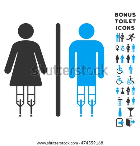 Disabled WC Persons icon and bonus male and woman toilet symbols  Vector  illustration style is. Disabled Toilet Stock Images  Royalty Free Images   Vectors