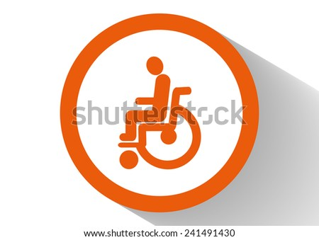 disabled, Web icon. vector design