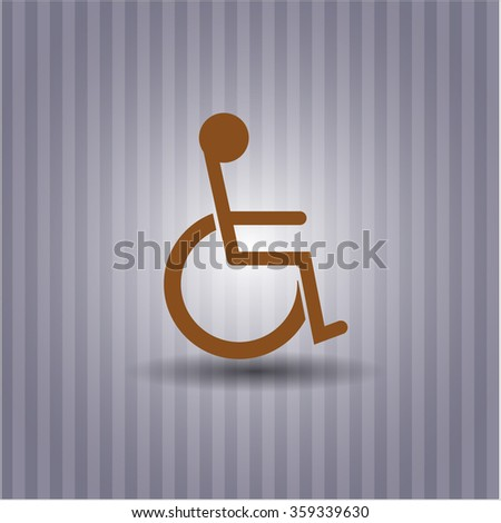 Disabled (Wheelchair) icon vector illustration - stock vector