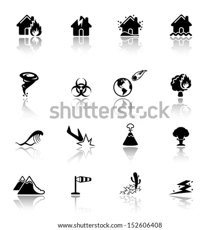 Disaster icons - stock vector