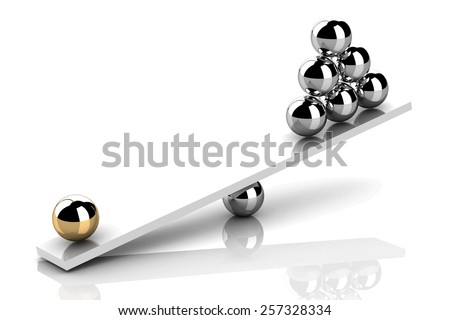 disbalance (high resolution 3D image) - stock vector