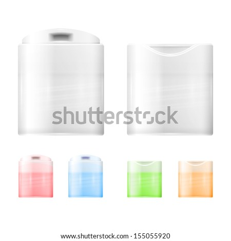 Disc bottle cap. - stock vector