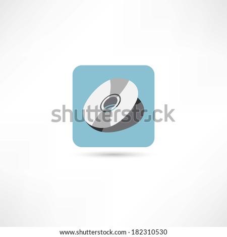 disc icon - stock vector