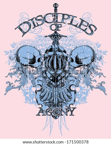 Disciples of agony - stock vector