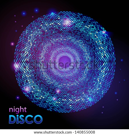 Disco abstract  background - stock vector