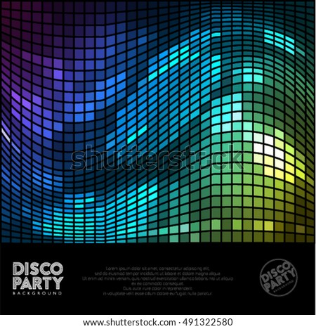 Disco abstract background