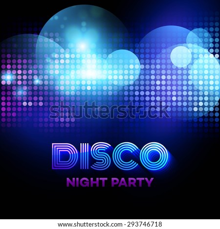Disco background with discoball. Vector illustration EPS 10 - stock vector
