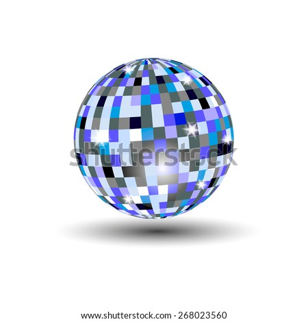 Disco ball - stock vector