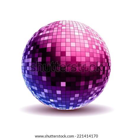 Disco ball. Disco background - stock vector