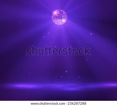 Disco ball vector background. Vector eps10. - stock vector