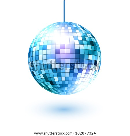 Disco ball. Vector illustration. Isolated. - stock vector
