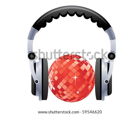 Disco ball with headphones