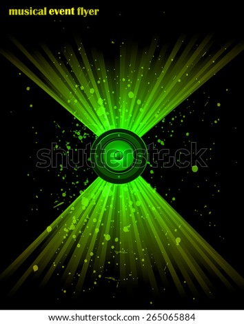 Disco club flayer with colorful elements. Ideal for poster and music background. - stock vector