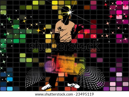 disco clubbing! - stock vector