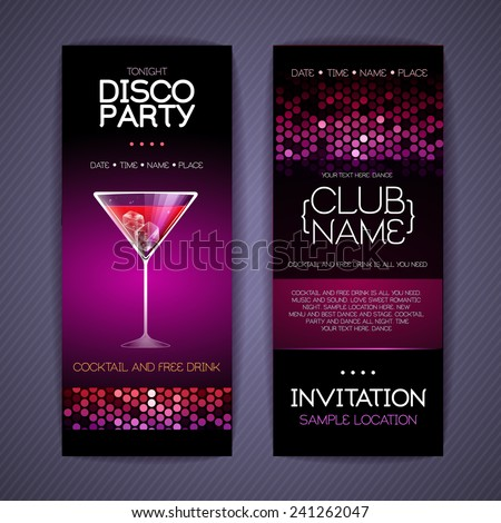 Disco Corporate Identity Templates. Cocktail  Corporate Party Invitation Template