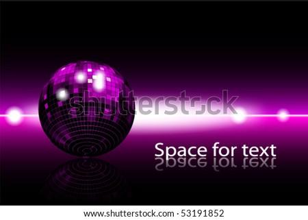 disco-globe background - stock vector