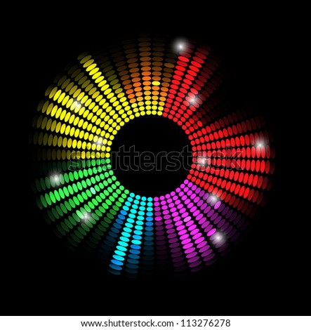 disco light stars abstract background - stock vector