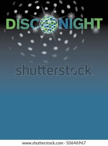 Disco night background. - stock vector