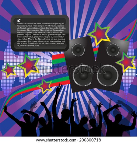 Disco Party Background - stock vector