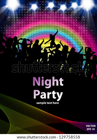 Disco Party Background. Vector Illustration - stock vector