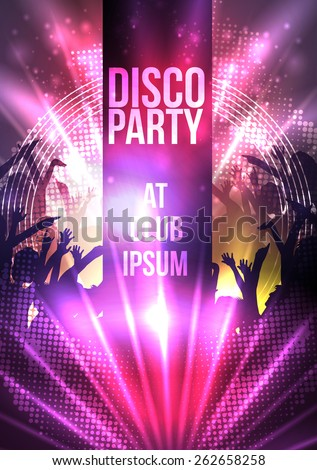 Disco Party Background - Vector Illustration