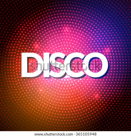 Disco party lights gold background. Hot dance background. Dance floor vector. Disco poster. Night Poster Background Template. - stock vector