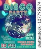 Disco party poster - stock vector