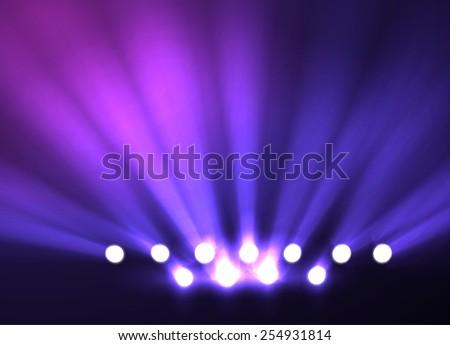 Disco party spotlight background. Vector eps10. - stock vector