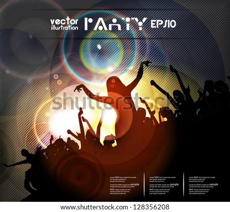 Disco party. Vector - stock vector