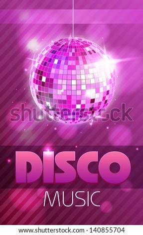 Disco poster - stock vector