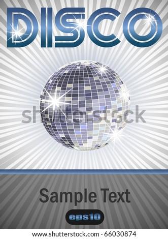 Disco Poster eps10 - stock vector