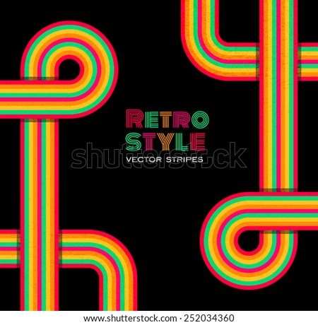 Disco retro background - stock vector