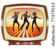 disco tv vector - stock photo