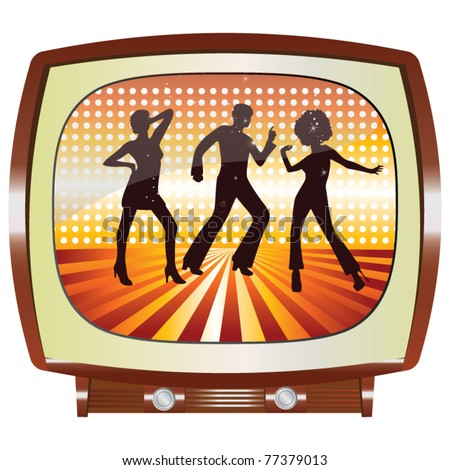 disco tv vector - stock vector