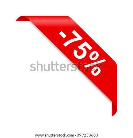 Discount 75% - stock vector
