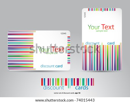 discount cards - stock vector