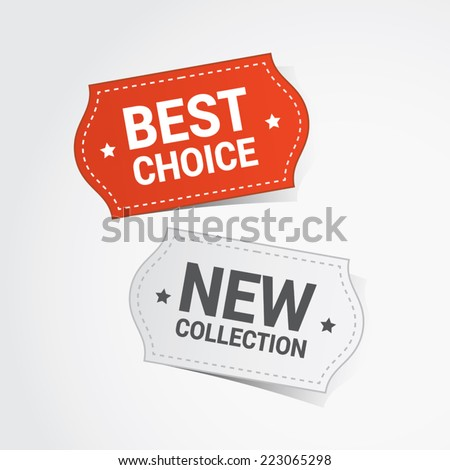 Discount color vector labels - stock vector