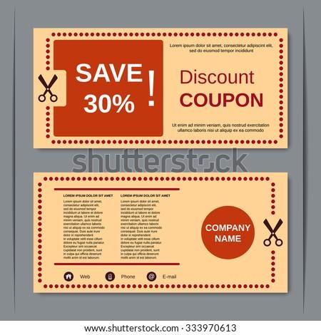 Discount coupon gift voucher gift certificate stock vector 333970613 discount coupon gift voucher gift certificate invitation card label sticker design stopboris Choice Image