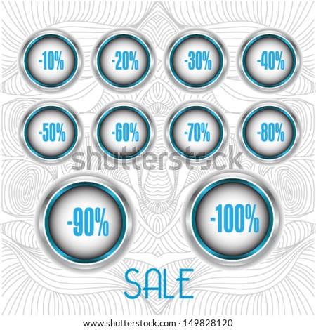 Discount icon, Vector. - stock vector