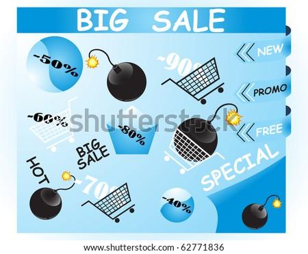 Discount illustration - stock vector