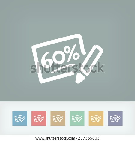Discount label icon