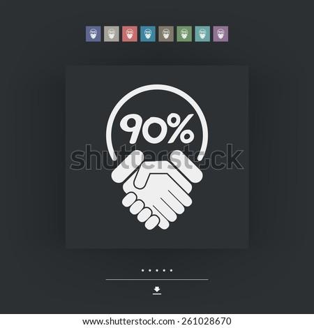 Discount label icon - stock vector