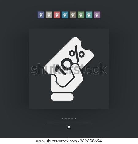 Discount label icon 10% - stock vector