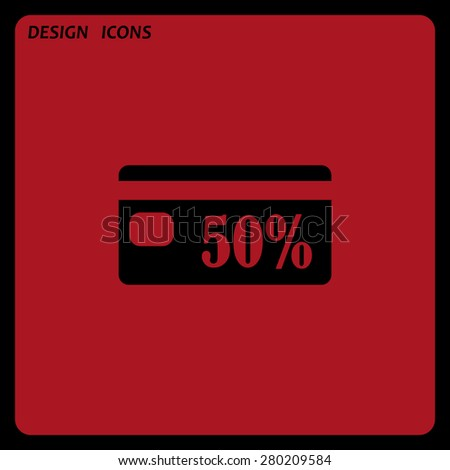 Discount label. icon. vector design. Flat design style  - stock vector