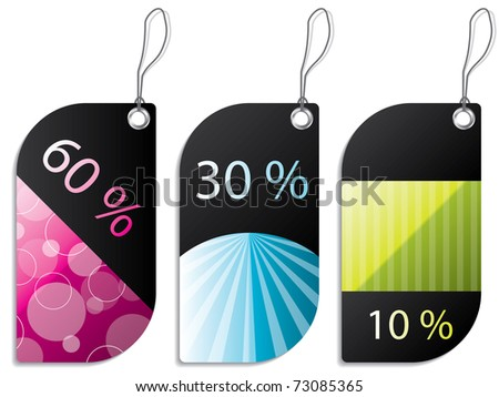 Discount label set - stock vector
